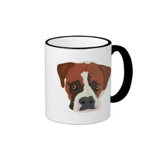 Boxer Dog Ringer Mug