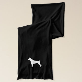 Boxer Dog Silhouette (Cropped Ears) Scarf