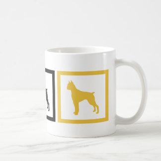Boxer dog  Squares Coffee Mug