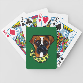 Boxer Dog St. Patty Bicycle Playing Cards