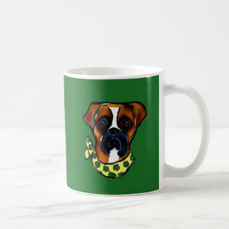 Boxer Dog St. Patty Coffee Mug