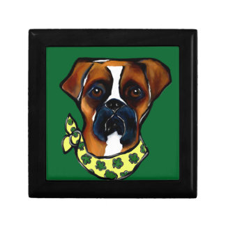 Boxer Dog St. Patty Gift Box