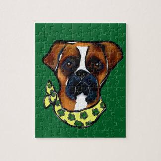 Boxer Dog St. Patty Jigsaw Puzzle