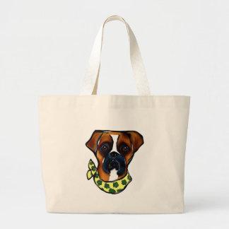 Boxer Dog St. Patty Large Tote Bag