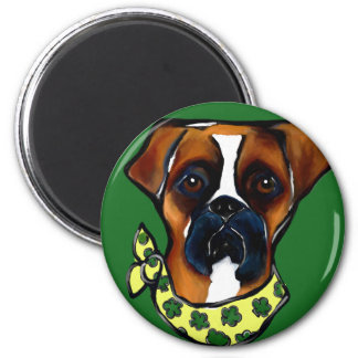 Boxer Dog St. Patty Magnet