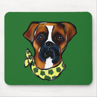 Boxer Dog St. Patty Mouse Pad