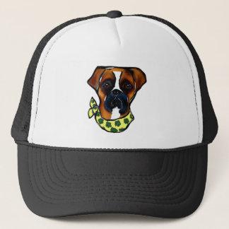 Boxer Dog St. Patty Trucker Hat