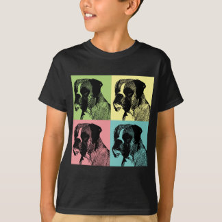 Boxer Dog Stamper Pop Art T-Shirt