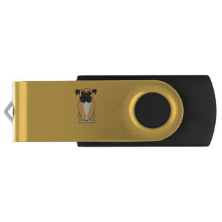 Boxer dog swivel USB 3.0 flash drive