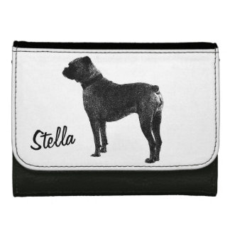 Boxer dog wallet design | Personalizable pet name.