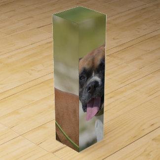 Boxer Dog Wine Box