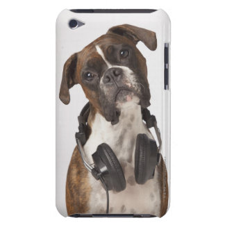 Boxer Dog with Headphones Barely There iPod Covers
