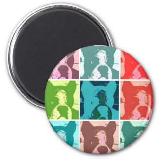 Boxer Dogs 6 Cm Round Magnet