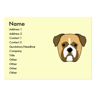 Boxer Dogs Face. Pack Of Chubby Business Cards