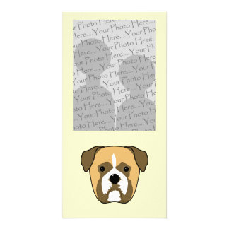 Boxer Dogs Face Photo Greeting Card