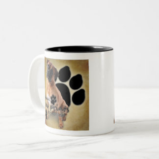 Boxer Dogs Leave Footprints on Your Heart Two-Tone Coffee Mug