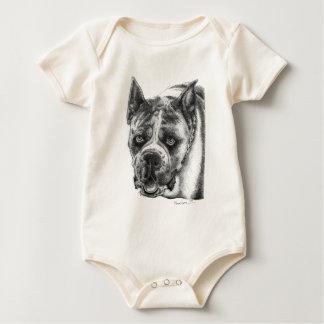 Boxer Drawing Baby Bodysuit
