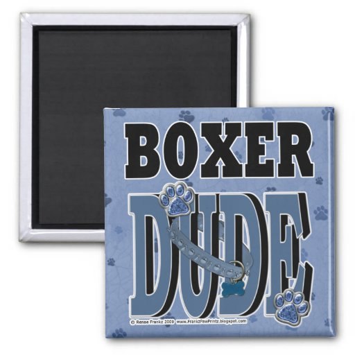 Boxer DUDE Magnets
