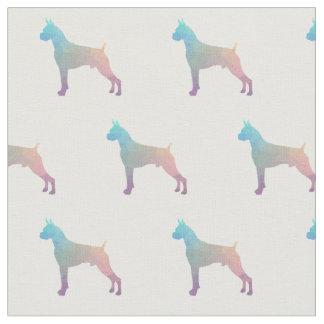 Boxer Geometric Pattern Silhouette Pastel Fabric