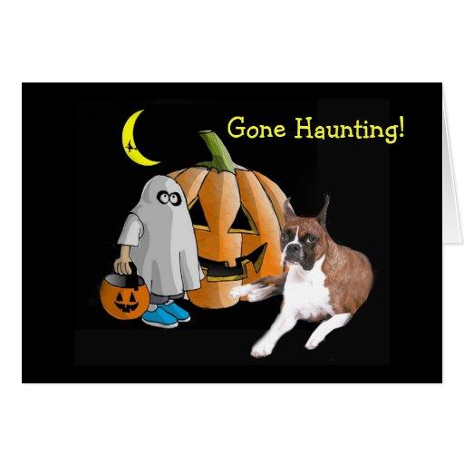 Boxer Halloween Greeting Card