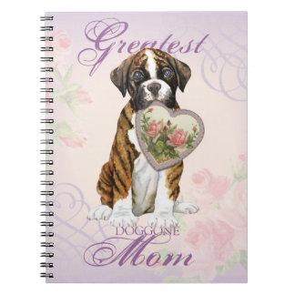 Boxer Heart Mom Notebook