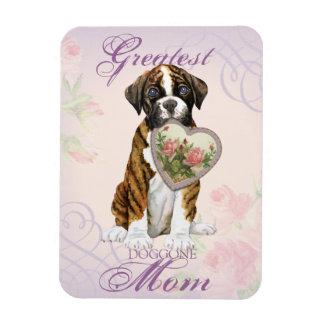 Boxer Heart Mom Rectangular Photo Magnet