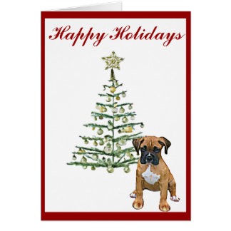 Boxer Holiday Card