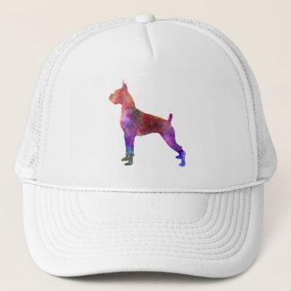 Boxer in watercolor 2 trucker hat