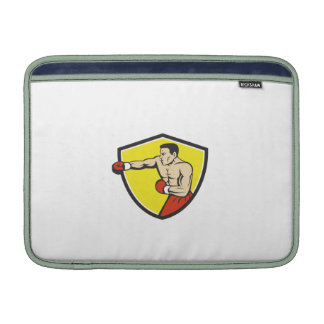 Boxer Jabbing Punching Crest Cartoon MacBook Sleeve