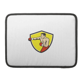 Boxer Jabbing Punching Crest Cartoon Sleeves For MacBooks