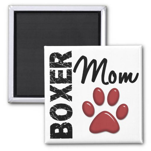 Boxer Mom 2 Magnets
