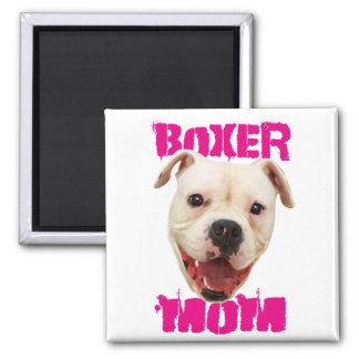 Boxer Mom dog Square Magnet