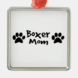boxer mom metal ornament