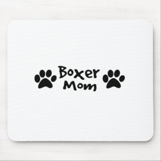 boxer mom mouse pad