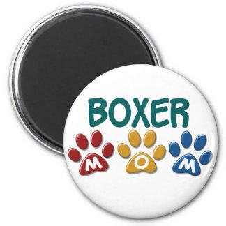 BOXER MOM Paw Print 1 6 Cm Round Magnet