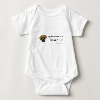 boxer - more breeds baby bodysuit