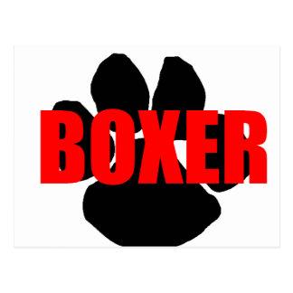 boxer name paw postcard