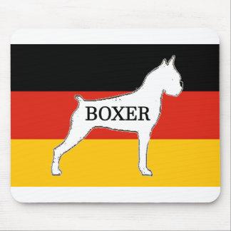 boxer name silo on flag white mouse pad