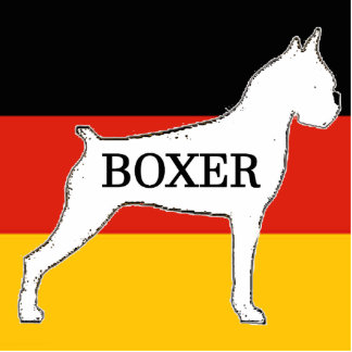 boxer name silo on flag white photo sculpture key ring