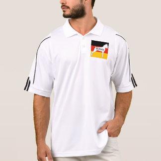 boxer name silo on flag white polo shirt