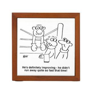 Boxer On the Ropes Cartoon Desk Organiser