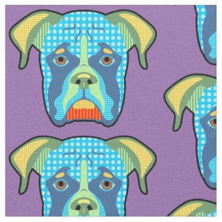 Boxer Pattern Pop Art Fabric
