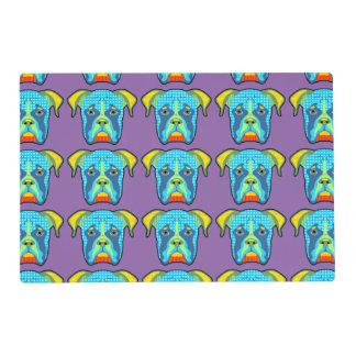 Boxer Pattern Pop Art Placemat