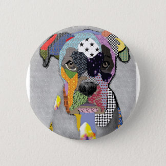 Boxer Portrait 6 Cm Round Badge