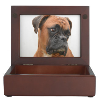 Boxer Portrait Keepsake Box