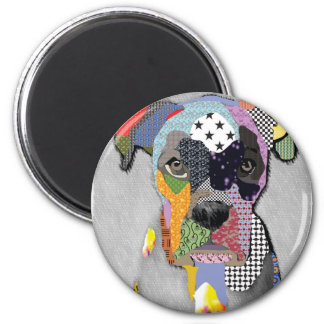 Boxer Portrait Fridge Magnet