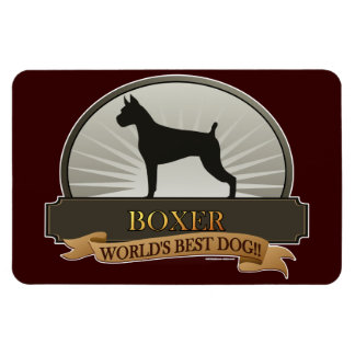 Boxer Rectangle Magnets