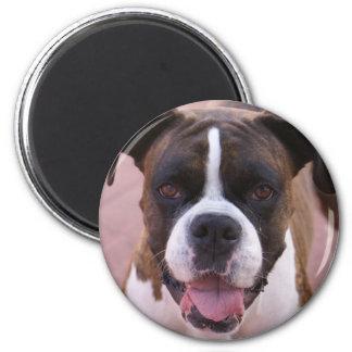 Boxer Pup Round Magnet Fridge Magnet