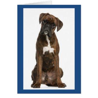 Boxer Puppy Dog Blank Note Card