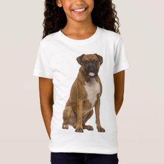 "Boxer Puppy Dog ""Boxer Love"" Girls Tee Shirt"